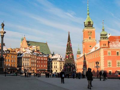Новый год в Варшаве. Старый город