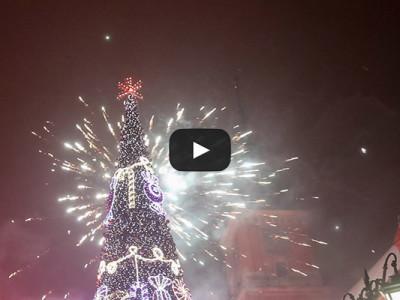 Новый год в Варшаве. Видео