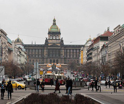 Новогодняя Прага: Вацлавская площадь