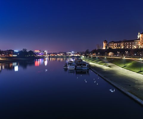 Новогодний Краков: Город Ночью