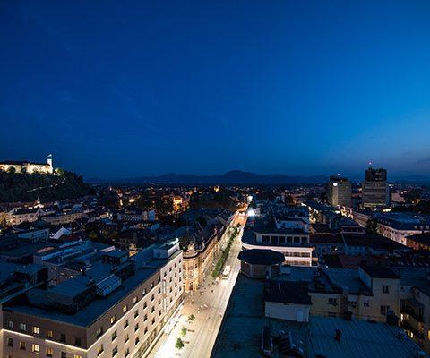 Любляна: Город Ночью